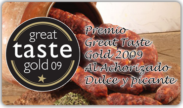 Premio Great Taste Gold 2009 al Achorizado